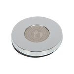 University Seal Silver Paperweight