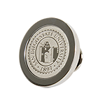 University Seal Silver Lapel Pin