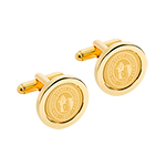 University Seal Gold Cufflinks