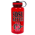 Wide Mouth SDSU Aztecs Water Bottle-Red