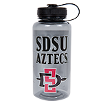 Wide Mouth SDSU Aztecs Water Bottle-Gray
