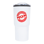 San Diego State Mom Tumbler-White & Red