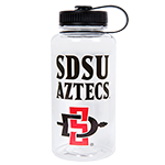 Wide Mouth SDSU Aztecs Water Bottle-Clear
