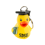 SDSU Grad Rubber Duck Keytag-Yellow