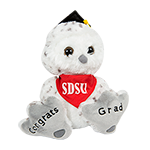 SDSU Grad Owl Plush-White