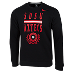 Nike SDSU Aztecs Fleece Pullover-Black