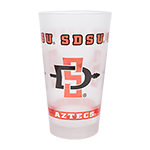 SDSU Aztecs Frosted Pint Glass-Clear