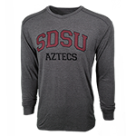 SDSU Aztecs Long Sleeve Tee-Graphite