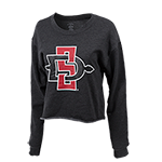 Women's SD Spear Crop Sweatshirt-Graphite