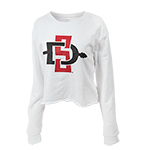 Women's SD Spear Crop Sweatshirt-White