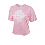 Women's SD Spear Crop Tee-Pink
