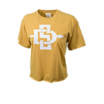 Women's SD Spear Crop Tee-Yellow