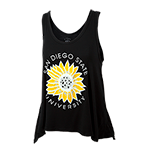 Women's San Diego State Sunflower Tank-Black