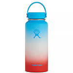 Hydro Flask 32 oz Wide Mouth Bottle- Blue Hawaii
