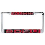 SDSU Alumni Color Block License Plate Frame-Red/Black