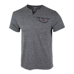 San Diego State University V-Notch Tee-Gray