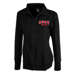 Women's SDSU Mom Lightweight Zip Jacket-Black