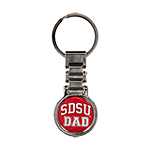 SDSU Dad Watch Link Keytag-Red