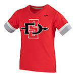 2019 Girl's Nike Sideline Fan Tee-Red
