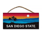 San Diego State Sunset Hanging Wood Sign