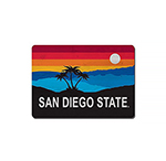 San Diego State Sunset Wood Magnet