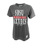 SDSU Aztecs Burnout Tee - Charcoal