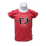 Youth Girl's SD Spear Tee - Red