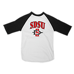 Toddler SDSU Baseball Tee - White