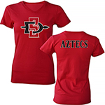 Women's SD Spear Jersey Tee - Red