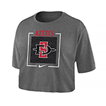 Women's Nike Aztecs Crop Tee-Gray