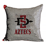 SD Spear Reverse Sequin Pillow - Red/Silver
