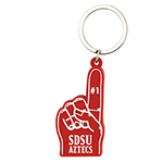 SDSU Aztecs #1 Finger Keytag - Red