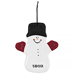 SDSU Snowman with Mittens Ornament
