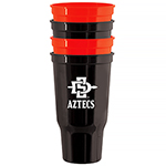 4-pack SD Spear Aztecs Stadium Cup - Red/Black