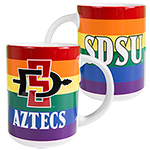 SDSU Aztecs SD Spear Rainbow Mug