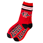 Youth SD Spear Stripe Sock-Red