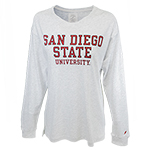 Women's San Diego State University Tee-Oxford Gray
