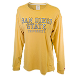 Women's San Diego State University Tee-Yellow