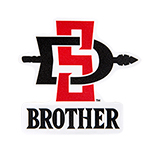 SD Spear Brother Decal-Red/Black