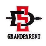 SD Spear Grandparent Decal-Red/Black