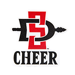 SD Spear Cheer Decal-Red/Black