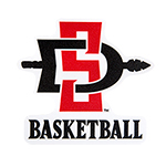 SD Spear Basketball Decal-Red/Black