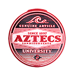 Aztecs Since 1897 Decal-Red/Black
