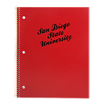 San Diego State University Notebook - Black/Red