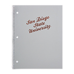 San Diego State University Notebook  -  Grey/Rose Gold