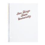 San Diego State University Notebook - White/Rose Gold