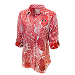SD Spear Women's Tommy Bahama Long Sleeve Polo - Red