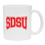 SDSU Outline Mug - White/Red