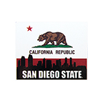 San Diego State California Flag Decal