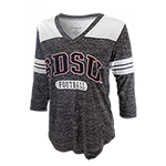 SDSU Football Women's 3/4 Sleeve V-Neck